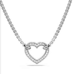 David Yurman Heart Station Pendant Necklace
